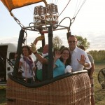 ready to fly on the balloon