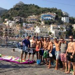Travel and kiteboard: kites of our travelers give color to the Amalfi Coast's sky!